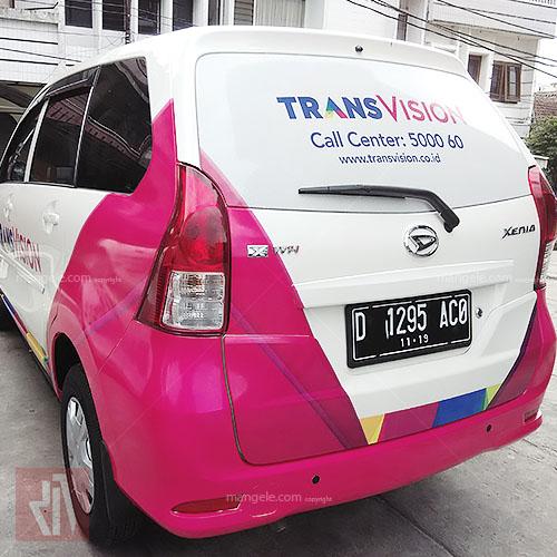 TransVision Avanza | stiker mobil bandung